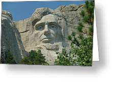 Honest Abe In Stone Greeting Card