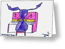 Honkey Tonk Piano Greeting Card