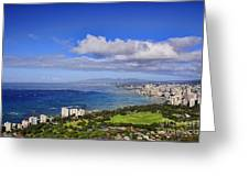 Honolulu From Diamond Head Greeting Card