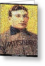 Honus Wagner Mosaic Greeting Card by Paul Van Scott