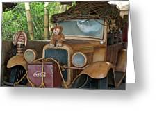 Hood Ornament Disney Bear Greeting Card