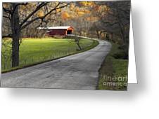 Hoosier Autumn - D007843a Greeting Card