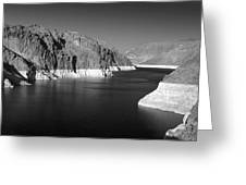 Hoover Dam Reservoir - Architecture On A Grand Scale Greeting Card