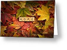 Hope-autumn Greeting Card