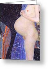 Hope I 1903 By Gustav Klimt Greeting Card