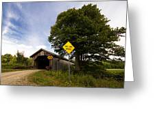 Hopkins Covered Bridge Greeting Card