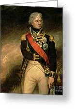 Horatio Viscount Nelson Greeting Card