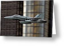 Hornet Buzzing Detroit Greeting Card