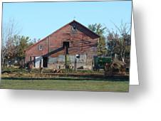 Horse Barn Greeting Card