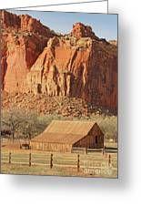 Horse Barn In Fruita Utah Greeting Card