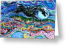 Horse Born Of Moon Energy Greeting Card by Carol Law Conklin