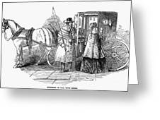Horse Carriage, 1847 Greeting Card