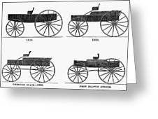 Horse Carriages, 1810-1860 Greeting Card