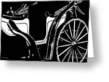 Horse Drawn Carriage Antique Greeting Card