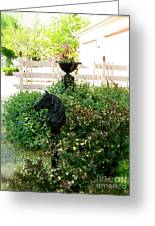 Horse Hitching Post 2 Greeting Card