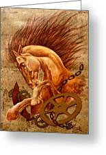 Horse Jewels Greeting Card by Lena Day
