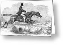 Horse-jumping, 1852 Greeting Card