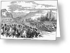 Horse Racing, 1850 Greeting Card