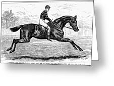 Horse Racing, 1880s Greeting Card by Granger