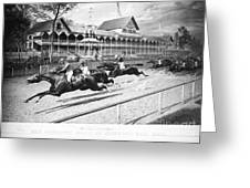 Horse Racing, 1889 Greeting Card