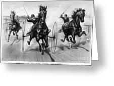 Horse Racing, 1890 Greeting Card