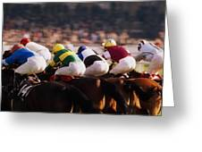 Horse Racing, Phoenix Park, Dublin Greeting Card