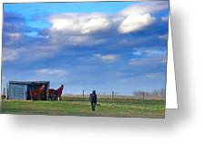 Horse Ranch Landscape Greeting Card
