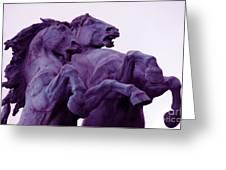 Horse Sculptures Greeting Card