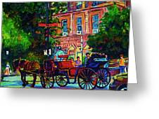 Horsedrawn Carriage Greeting Card