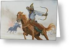 Horsemen From The Steppes Greeting Card