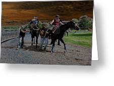 Horses 001 Greeting Card