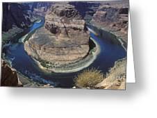 Horseshoe Bend View Greeting Card