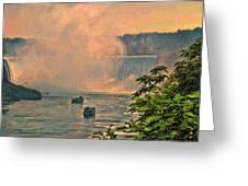 Horseshoe Falls Canadian Niagara Falls Greeting Card