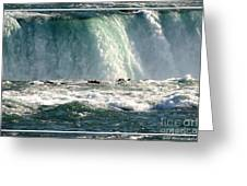 Horseshoe Falls Closeup Over The Brink Greeting Card