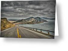 Horsetooth Reservoir Stormy Skies Hdr Greeting Card by Aaron Burrows