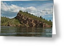 Horsetooth Reservoir View Toward Inlet Bay Greeting Card