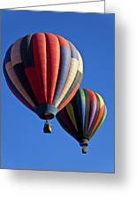 Hot Air Ballons Floating High Greeting Card