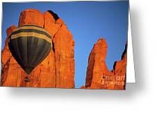 Hot Air Balloon Monument Valley 1 Greeting Card