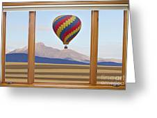 Hot Air Balloon Colorado Wood Picture Window Frame Photo Art Vie Greeting Card