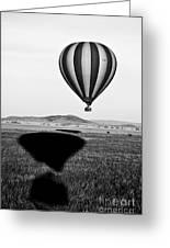 Hot Air Balloon Shadows Greeting Card