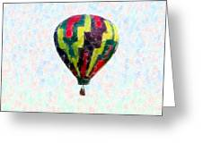 Hot-air-balloon Greeting Card