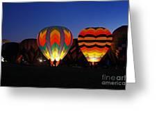 Hot Air Balloons At Dusk Greeting Card