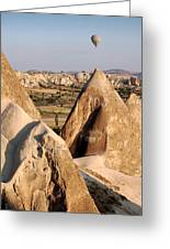 Hot Air Balloons Over Cappadocia Greeting Card by RicardMN Photography