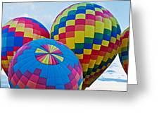 Hot Air Balloons Panorama Greeting Card