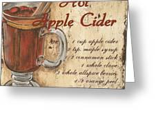 Hot Apple Cider Greeting Card