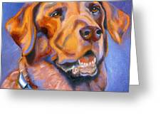 Hot Chocolate Lab Greeting Card by Susan A Becker