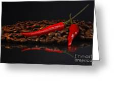 Hot Coffee Greeting Card by Tanja Riedel