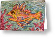Hot Lips The Fish Greeting Card