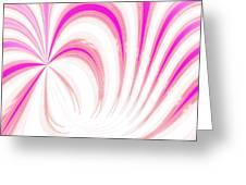 Hot Pink Swirls Greeting Card