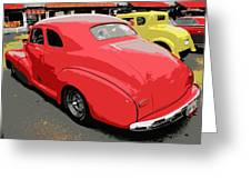 Hot Rod Car Show Greeting Card